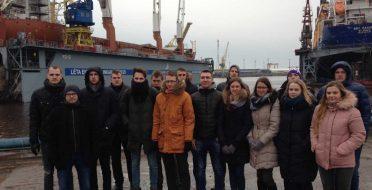 Studentų išvyka į Klaipėdos valstybinį jūrų uostą